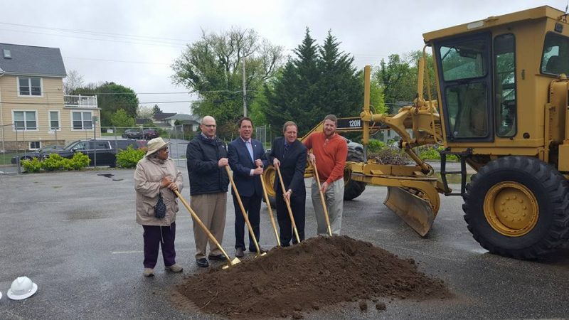 Towson Mews groundbreaking, photo courtesy of David Marks