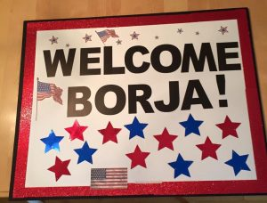 Borja welcome sign