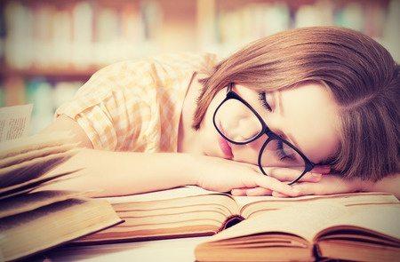 tired sleepy teen student stock photo purchsaed TF