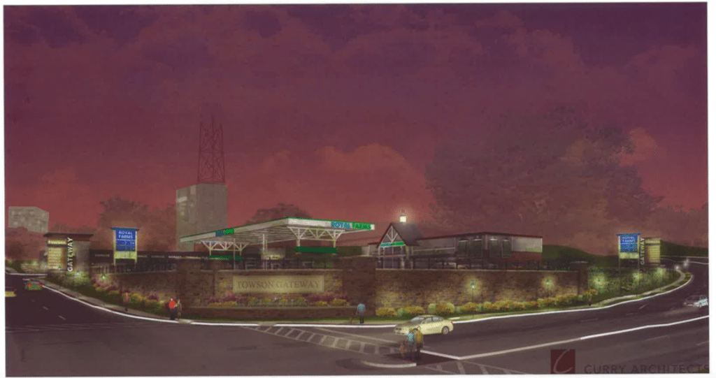Rendering of the proposed Royal Farms at York & Bosley