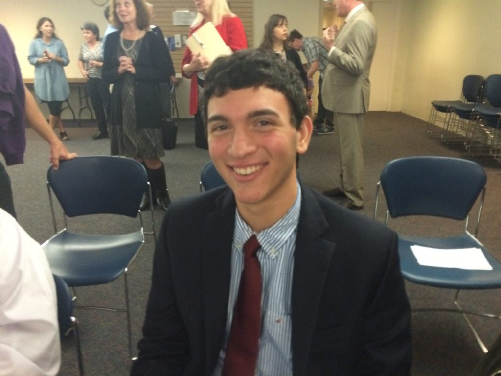 Zach Caplan, student-body president at Towson High