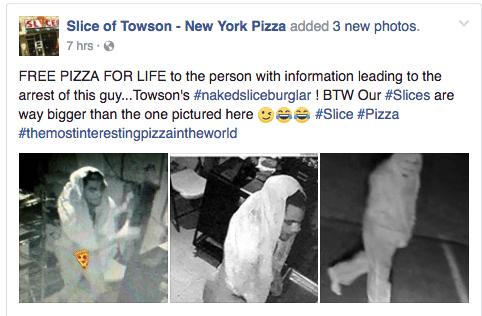 pizza slice burglary