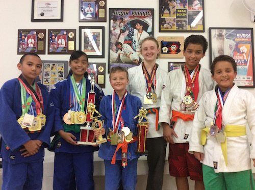 Students at the Maryland Judo & Jiu-Jitsu Academy in Towson