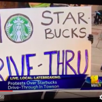 Media coverage of Starbucks drive-through protest