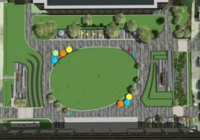 Rendering unveiled for Patriot Plaza redesign