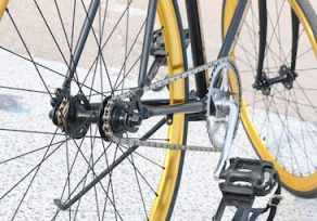 Driver claims possible involvement in hit-and-run of bicyclist on N. Charles