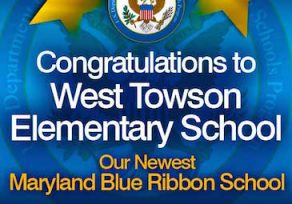 West Towson Elementary named a Blue Ribbon school